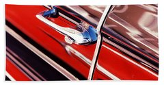 Beach Towel featuring the photograph Chevy Or Caddie? by Ira Shander