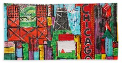 Chicago - City Of Fun - Sold Beach Towel by George Riney
