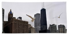 Chicago Birds 2 Beach Towel by Verana Stark