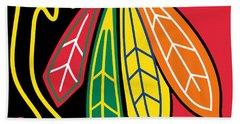 Chicago Blackhawks Beach Sheet