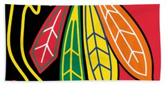 Chicago Blackhawks Beach Towel by Tony Rubino