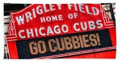 Chicago Cubs Wrigley Field Beach Towel