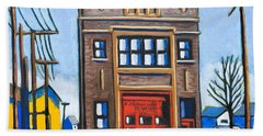 Chicago Fire Station Beach Towel