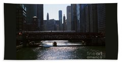 Chicago Morning Commute Beach Towel
