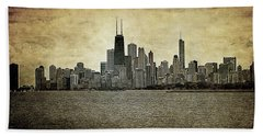 Chicago On Canvas Beach Towel