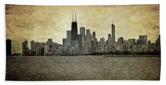 Chicago On Canvas Beach Towel