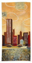 Chicago River I Beach Towel