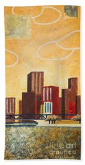 Chicago River II Beach Towel
