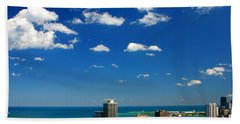 Chicago Skyline Big Sky Lake Beach Towel
