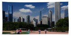 Chicago Skyline Grant Park Beach Towel
