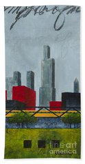 Chicago Skyline I Beach Towel