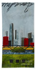 Chicago Skyline II Beach Sheet