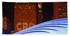 Chicago Skyline Orb Beach Towel