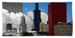 Chicago Skyline Sears Tower Beach Towel