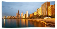 Chicago Skyline Beach Towel by Sebastian Musial