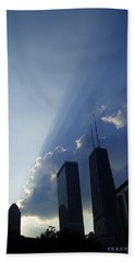 Chicago Sunset Beach Towel by Verana Stark