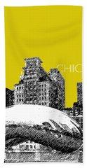Chicago The Bean - Mustard Beach Towel