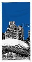 Chicago The Bean - Royal Blue Beach Towel