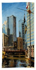 Chicago - The River From The East Beach Towel