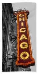 Chicago Theater Selective Color Beach Towel