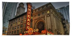 Chicago Theatre Hdr Beach Towel