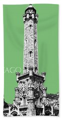 Chicago Water Tower - Apple Beach Towel