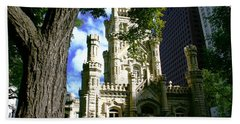 Chicago Water Tower Castle Beach Towel