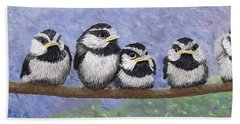 Chickadee Chicks Beach Towel
