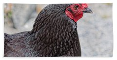 Chicken Profile Beach Towel by Denyse Duhaime