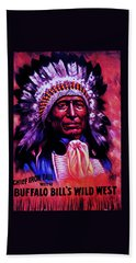 Chief Iron Tail Buffalo Bill's Wild West Beach Towel