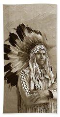 Chief Red Eagle Carmel California Circa 1940 Beach Towel