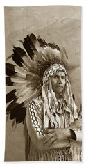 Chief Red Eagle Carmel California Circa 1940 Beach Towel