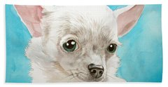 Chihuahua Dog White Beach Towel