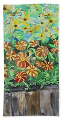 Childlike Flowers Beach Sheet