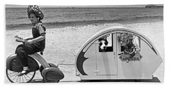 Children Beach Tour Beach Towel by Underwood Archives