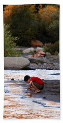 Beach Towel featuring the photograph Childs Play by Melanie Lankford Photography