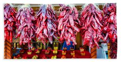 Chile Ristras And Apples Beach Sheet