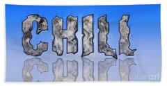 Chill Digital Art Prints Beach Towel