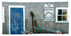 Chilmark Dock Shack Beach Towel by Kathy Barney