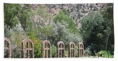 Beach Towel featuring the photograph Chimayo Sanctuary In New Mexico by Dora Sofia Caputo Photographic Art and Design