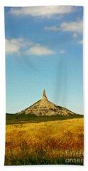 Chimney Rock Nebraska Beach Towel by Robert Frederick