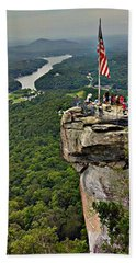 Beach Towel featuring the photograph Chimney Rock Overlook by Alex Grichenko