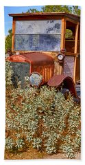 Beach Towel featuring the photograph China Ranch Truck by Jerry Fornarotto