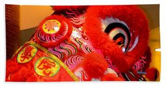 Chinese New Year Series 2015 - Red Dragon Head Beach Towel