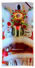 Chinese New Year Series 2015 - White And Red Dragon Beach Towel