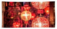Chinese Red Lantern Beach Towel