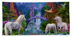 Chinese Unicorns Beach Sheet by Jan Patrik Krasny