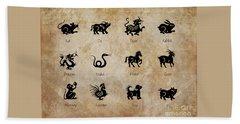Chinese Zodiac Beach Sheet