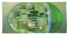 Chloroplast - Basis Of Life - Plant Cell Biology - Chloroplasts Anatomy - Chloroplasts Structure Beach Towel