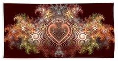 Chocolate Heart Beach Sheet